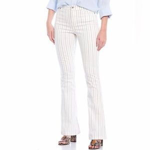 Chelsea & Violet Striped Wide Flare Leg Jean